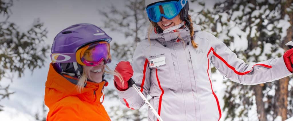Friends Skiing