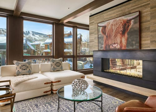 Snowmass Mountain Lodging The Lumin Living Room